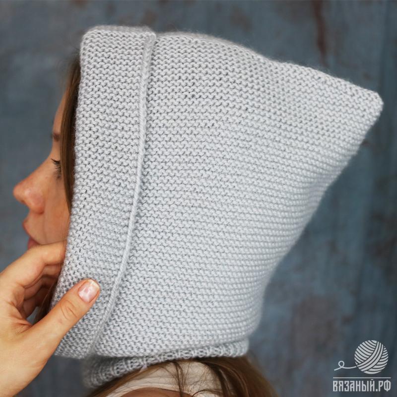 Как связать шапку капор